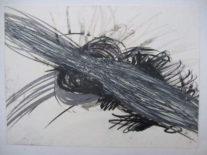 Untitled, 2008, mixed media on paper, 30.5X40 cm