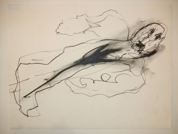 Untitled, 2008, ink, pencil, and charcoal on paper, 30.5X40 cm