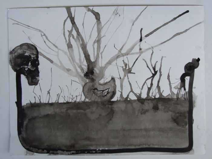 Untitled, 2008, ink  on paper, 30.5X40 cm