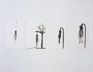 Untitled, 2007, Ink on paper, 40.5X30.5 cm each