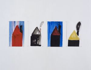 Untitled, 2007, Water color on paper, 38X25 cm each