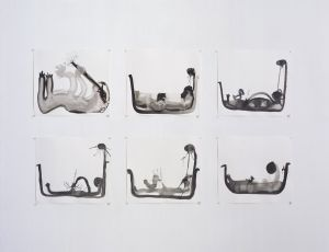 Untitled, 2007, Water color on paper, 30.5X40.5 cm each